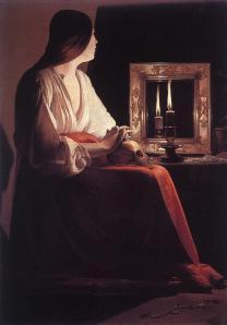 The Penitent Magdalene by George de la Tour.